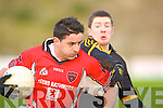 Rathmore's Aidan O'Mahony goes through Kieran O'Leary Dr Crokes tackle during their division 1 County league game in Lewis Road on Sunday   Copyright Kerry's Eye 2008