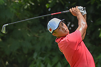 Zheng Kai BAI (CHN) watches his tee shot on 5 during Rd 2 of the Asia-Pacific Amateur Championship, Sentosa Golf Club, Singapore. 10/5/2018.<br /> Picture: Golffile | Ken Murray<br /> <br /> <br /> All photo usage must carry mandatory copyright credit (© Golffile | Ken Murray)
