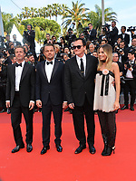 "CANNES, FRANCE. May 21, 2019: Brad Pitt, Leonardo DiCaprio, Quentin Tarantino & Margot Robbie at the gala premiere for ""Once Upon a Time in Hollywood"" at the Festival de Cannes.<br /> Picture: Paul Smith / Featureflash"