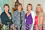 ANNUAL DINNER: Having a great time at the Tralee and Killarney Accord Annual Dinner party at Ballyseede Castle on Friday l-r: Mary Moynihan, Mary O'Shea, Ann Lucid Daly and Marie Rael.