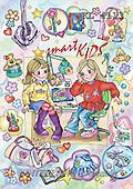 Interlitho, Dani, TEENAGERS, paintings, 2 girls, utilities(KL4113,#J#) Jugendliche, jóvenes, illustrations, pinturas ,everyday