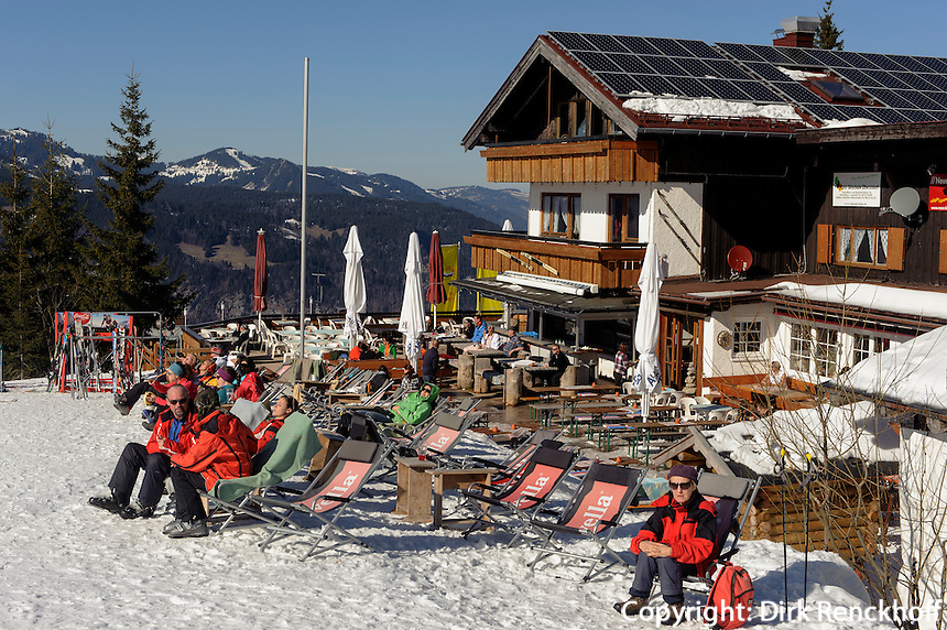 Gasthaus am S&ouml;ller auf dem S&ouml;llereck bei  Oberstdorf im Allg&auml;u, Bayern, Deutschland <br /> inn &quot; Gasthaus am S&ouml;ller&quot; on Mt.  Sellereck  near Oberstdorf, Allg&auml;u, Bavaria, Germany