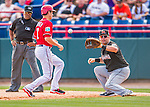 7 March 2016: Miami Marlins first baseman Dan Black in action during a Spring Training pre-season game against the Washington Nationals at Space Coast Stadium in Viera, Florida. The Nationals defeated the Marlins 7-4 in Grapefruit League play. Mandatory Credit: Ed Wolfstein Photo *** RAW (NEF) Image File Available ***