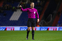 Referee Anthony Backhouse during the Sky Bet League 1 match between Oldham Athletic and AFC Wimbledon at Boundary Park, Oldham, England on 21 November 2017. Photo by Juel Miah/PRiME Media Images