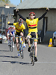 Matthew Taggart from Banbridge cycle club wins at Stamullen Cycle club's annual road races. Photo: Colin Bell/pressphotos.ie