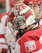 Kyle Richter (Harvard - 33) - The visiting Quinnipiac University Bobcats defeated the Harvard University Crimson 3-1 on Wednesday, December 8, 2010, at Bright Hockey Center in Cambridge, Massachusetts.
