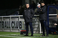 Brentwood manager Adam Flanagan during Romford vs Brentwood Town, BetVictor League North Division Football at Parkside on 11th February 2020