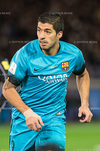 Luis Suarez (Barcelona), DECEMBER 17, 2015 - Football / Soccer : FIFA Club World Cup Japan 2015 semi-final match between FC Barcelona 3-0 Guangzhou Evergrande at Yokohama International Stadium, Kanagawa, Japan. (Photo by Enrico Calderoni/AFLO)