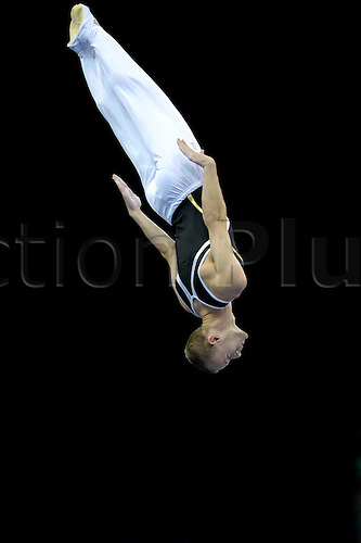 24.07.2011 British Trampoline Tumbling and DMT Championships from the NIA in Birmingham. Jack Helm  in action from the City of Liverpool