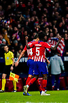 Thomas Teye Partey of Atletico de Madrid celebrates scoring the team's first goal during the La Liga 2018-19 match between Atletico de Madrid and Athletic de Bilbao at Wanda Metropolitano, on November 10 2018 in Madrid, Spain. Photo by Diego Gouto / Power Sport Images