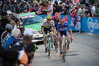 Damiano Cunego (ITA/Nippo-Vini Fantini) up the very steep Fai Della Paganella climb (15%)<br /> <br /> stage 16: Bressanone/Brixen - Andalo 132km<br /> 99th Giro d'Italia 2016