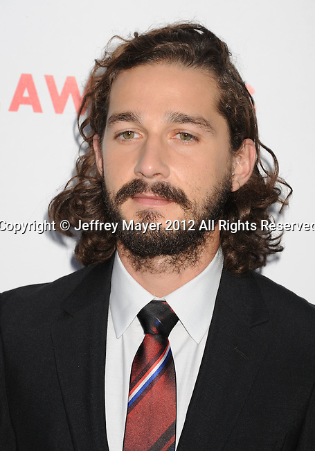 HOLLYWOOD, CA - AUGUST 22: Shia LaBeouf arrives at the 'Lawless' Los Angeles Premiere at ArcLight Cinemas on August 22, 2012 in Hollywood, California.