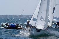 470 / Alexander CONWAY - Patrick CONWAY (AUS)<br /> ISAF Sailing World Cup Final - Melbourne<br /> St Kilda sailing precinct, Victoria<br /> Port Phillip Bay Tuesday 6 Dec 2016<br /> &copy; Sport the library / Jeff Crow