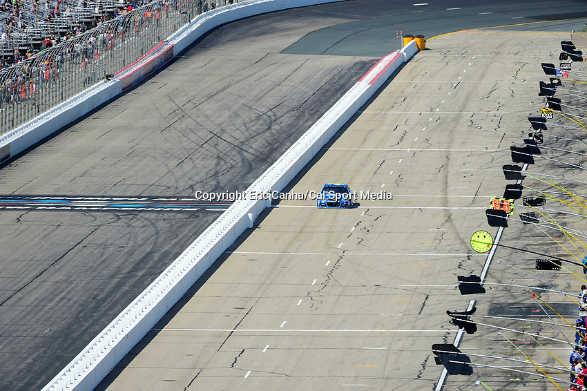 July 16, 2017 - Loudon, New Hampshire, U.S. - Jimmie Johnson, Monster Energy NASCAR Cup Series driver of the Lowe's Chevrolet (48), takes his penalty for jumping the start at the NASCAR Monster Energy Overton's 301 race held at the New Hampshire Motor Speedway in Loudon, New Hampshire.  Eric Canha/CSM