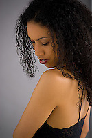 African American woman in studio