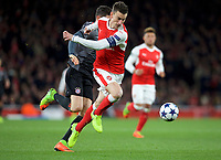 Laurent Koscielny of Arsenal during the UEFA Champions League round of 16 match between Arsenal and Bayern Munich at the Emirates Stadium, London, England on 7 March 2017. Photo by Alan  Stanford / PRiME Media Images.