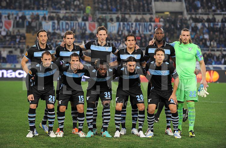 FUSSBALL   EUROPA LEAGUE   SAISON 2012/2013   22.11.2012 Lazio Rom - Tottenham Hotspur FC  Teamfoto Lazio Rom