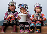 Hani children, Yuanyang, China