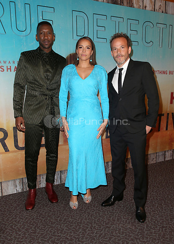 LOS ANGELES, CA - JANUARY 10: Mahershala Ali, Carmen Ejogo, Stephen Dorff, at the Los Angeles Premiere of HBO's True Detective Season 3 at the Directors Guild Of America in Los Angeles, California on January 10, 2019. Credit: Faye Sadou/MediaPunch
