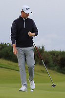 Justin harding (RSA) on the 4th green during Round 2 of the Alfred Dunhill Links Championship 2019 at Kingbarns Golf CLub, Fife, Scotland. 27/09/2019.<br /> Picture Thos Caffrey / Golffile.ie<br /> <br /> All photo usage must carry mandatory copyright credit (© Golffile | Thos Caffrey)