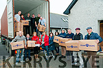 Shoe Box Collection: Helen O'Connell, third from left front, Area Co-ordindtor for Kerry & West Limerick Team Hope supervising the loading of 4538 shoe boxes bound  for Lesotho, South Africa at the Listowel Christian Fellowship Centre, Ballybunion road, Listowel on Saturday afternoon last.