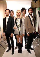 LOS ANGELES, JULY 15, 2009:  Liela Moss and her band The Duke Spirit at the 3.1 Phillip Lim Store Party. The one year anniversary party for the 3.1 Phillip Lim LA Store - Image Photo Booth West Hollywood, July 15, 2009.