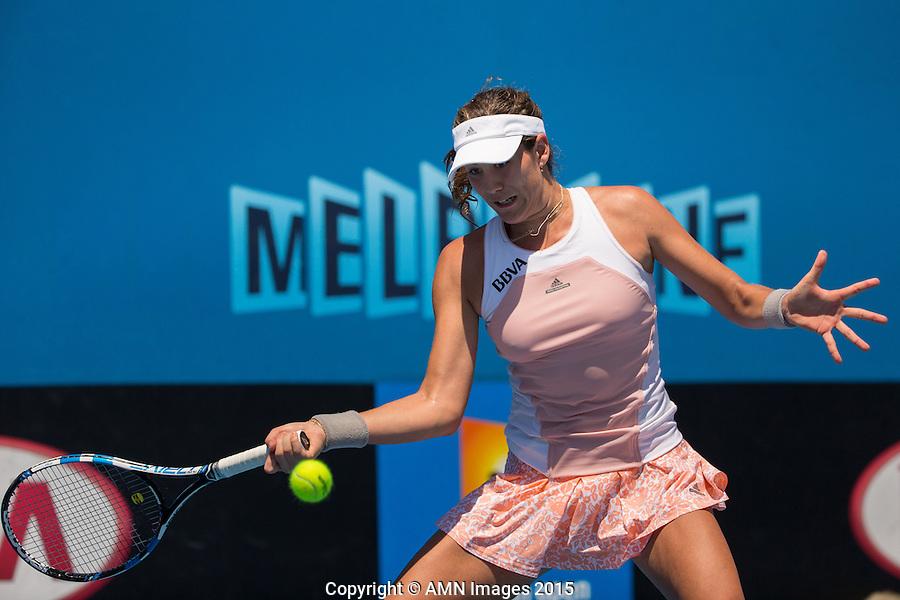 Garbine Muguruza (ESP)<br /> <br /> Tennis - Australian Open 2015 - Grand Slam -  Melbourne Park - Melbourne - Victoria - Australia  - 22 January 2015. <br /> &copy; AMN IMAGES