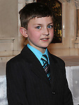 Luke Flood from Congress Avenue school who received first holy communion in St Mary's church. Photo: Colin Bell/pressphotos.ie