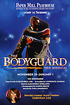 Theatre Poster for the North American Premiere presentation of 'The Bodyguard' at The New 42nd Street Studios on November 10, 2016 in New York City.