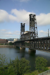 Early morning along the Willamette River in Portland, OR