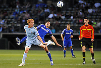 Jeff Larentowicz #4, Davy Arnaud...Kansas City Wizards defeated Colorado Rapids 1-0 at Community America Ballpark, Kansas City,Kansas.