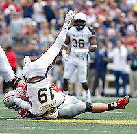 Ohio State Buckeyes defensive lineman Joey Bosa (97) sacks Navy Midshipmen quarterback Keenan Reynolds (19) in the 3rd quarter of their NCAA game at M&T Bank Stadium in Baltimore, Maryland on August 30, 2014. (Dispatch photo by Kyle Robertson)