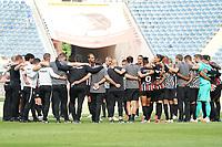 Abschlussansprache Trainer Adi Hütter (Eintracht Frankfurt)<br /> - 27.06.2020: Fussball Bundesliga, Saison 19/20, Spieltag 34, Eintracht Frankfurt vs. SC Paderborn 07, emonline, emspor, Namen v.l.n.r. <br /> <br /> Foto: Marc Schueler/Sportpics.de/Pool <br /> Nur für journalistische Zwecke. Only for editorial use. (DFL/DFB REGULATIONS PROHIBIT ANY USE OF PHOTOGRAPHS as IMAGE SEQUENCES and/or QUASI-VIDEO)