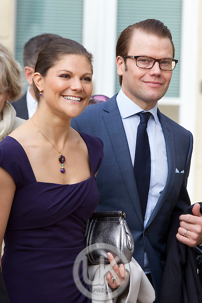 Crown Princess Victoria, and Prince Daniel of Sweden on a two day official visit to France..Visit to the Town Hall in Sceaux, near Paris..