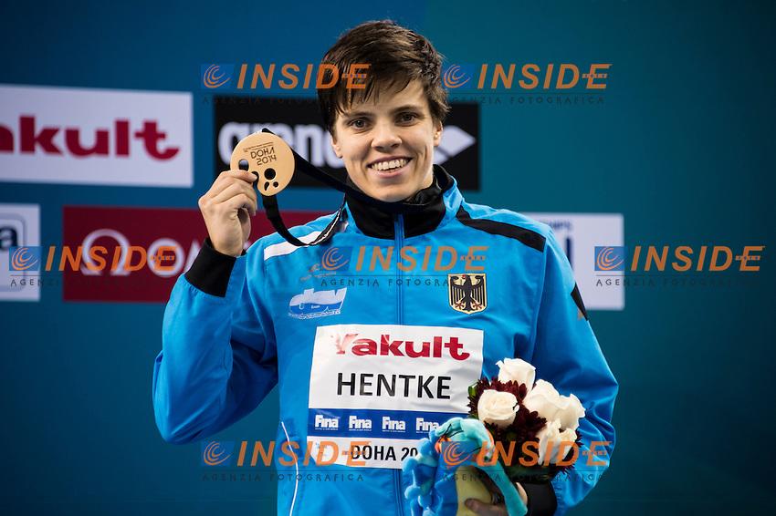 HENTKE Franziska GER Bronze Medal<br /> Women's 200m Butterfly Final<br /> Doha Qatar 03-12-2014 Hamad Aquatic Centre, 12th FINA World Swimming Championships (25m). Nuoto Campionati mondiali di nuoto in vasca corta.<br /> Photo Giorgio Scala/Deepbluemedia/Insidefoto