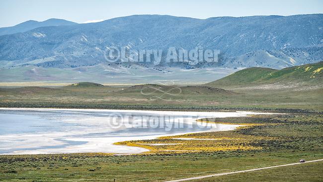 Soda Lake and clouds, spring, Carrizo Plain, San Luis Obispo County, Calif.