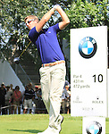 Nicolas Colsaerts teeing off on the 10th.on the final day of the BMW International Open in GC Munchen Eichenried. 27/6/2010.Picture Fran Caffrey/www.golffile.ie