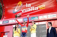 Alberto Contador with the red jersey of leader after the stage of La Vuelta 2012 beetwen Aguilar de Campoo-Valladolid.September 6,2012. (ALTERPHOTOS/Paola Otero) /NortePhoto.com<br /> <br /> **CREDITO*OBLIGATORIO** <br /> *No*Venta*A*Terceros*<br /> *No*Sale*So*third*<br /> *** No*Se*Permite*Hacer*Archivo**<br /> *No*Sale*So*third*