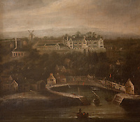 A 17th century painting of Prideaux Place showing its close proximity to the harbour town of Padstow