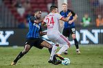 Bayern Munich Midfielder Corentin Tolisso (R) fights for the ball with FC Internazionale Midfielder Geoffrey Kondogbia (L) during the International Champions Cup match between FC Bayern and FC Internazionale at National Stadium on July 27, 2017 in Singapore. Photo by Marcio Rodrigo Machado / Power Sport Images