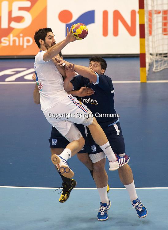 23rd IHF Men's World Championship; FRA-ARG.Nikola Karabatic (FRA).