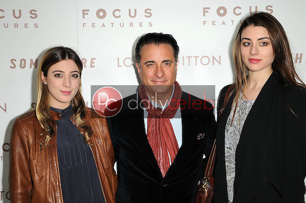 """Andy Garcia and Daughters Dominik Garcia-Lorido and Alessandra Garcia-Lorido<br /> at the Premiere Of Focus Features' """"Somewhere,"""" Arclight Theater, Hollywod, CA. 12-07-10<br /> David Edwards/DailyCeleb.com 818-249-4998"""