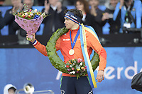 SCHAATSEN: AMSTERDAM: Olympisch Stadion, 11-03-2018, WK Allround, Coolste Baan van Nederland, Final Podium Men, Wereldkampioen - World Champion Patrick Roest (NED), ©foto Martin de Jong