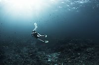 Images of Scuba Divers in the Similan National Reserve and Richelieu Rock taken in the Andaman Sea in Thailand