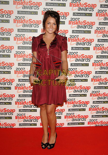 LACEY TURNER.Inside Soap Awards, Gilgamesh, Camden, London, .England, September 24th 2007..full length red dress awards black peep-toe shoes.CAP/PL.©Phil Loftus/Capital Pictures