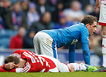 Joe Garner and Blair Adams head injury