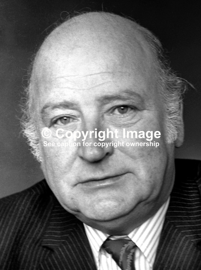 Bob Rolston, aka Robert Rolston, president, N Ireland Chamber of Commerce, March 1975, 197503000208b<br />