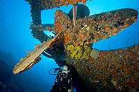 wreck of the Hilma Hooker, Bonaire, Caribbean Sea, Atlantic Ocean, MR
