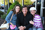 Guiding Light's actor Frank Dicopoulos poses with Donna Baker and Lynn Orsatti on October 1, 2009 in Pittsburgh, PA area as the actors visit Moon Township Honda after going to the various GO PINK Panera Bread locations. Proceeds from pink ribbon bagel sales will benefit the Young Women's Breast Cancer Awareness Foundation. (Photo by Sue Coflin/Max Photos)
