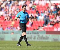 Referee Darren England<br /> <br /> Photographer Stephen White/CameraSport<br /> <br /> The Premier League - Stoke City v Leeds United - Saturday August 24th 2019 - bet365 Stadium - Stoke-on-Trent<br /> <br /> World Copyright © 2019 CameraSport. All rights reserved. 43 Linden Ave. Countesthorpe. Leicester. England. LE8 5PG - Tel: +44 (0) 116 277 4147 - admin@camerasport.com - www.camerasport.com